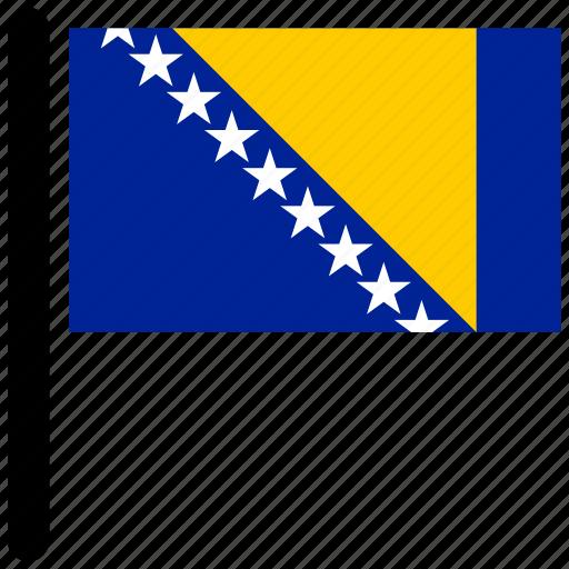 bosnia, bosnia and herzegovina, flag, flags, herzegovina, national icon