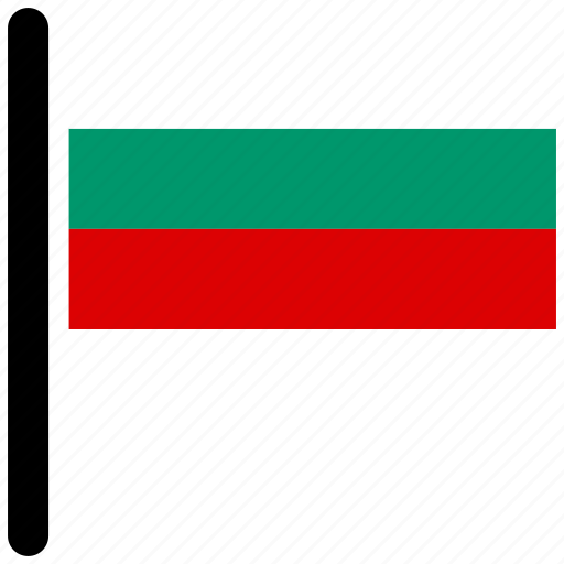 bulgaria, country, flag, flags, national icon