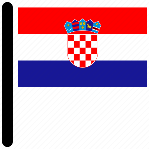 country, croatia, flag, flags, national icon