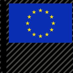 country, euro, european, flag, flags, national icon