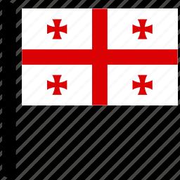 country, flag, flags, georgia, rectangular icon