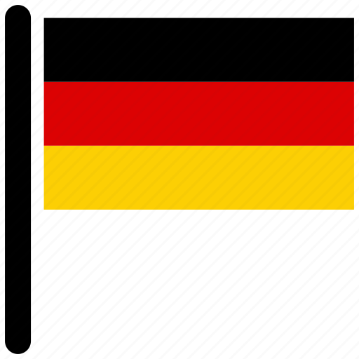 country, flag, flags, germany, national, rectangular icon
