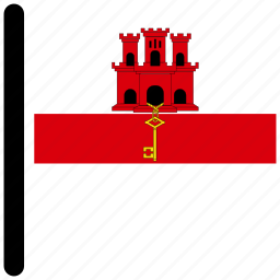 country, flag, gibraltar, national, world icon