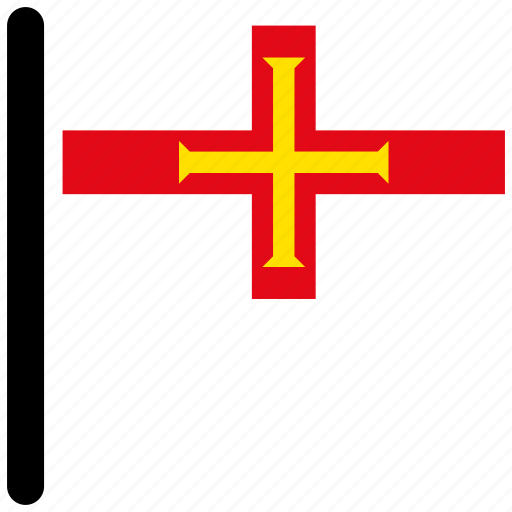 country, flag, flags, guernsey, national icon