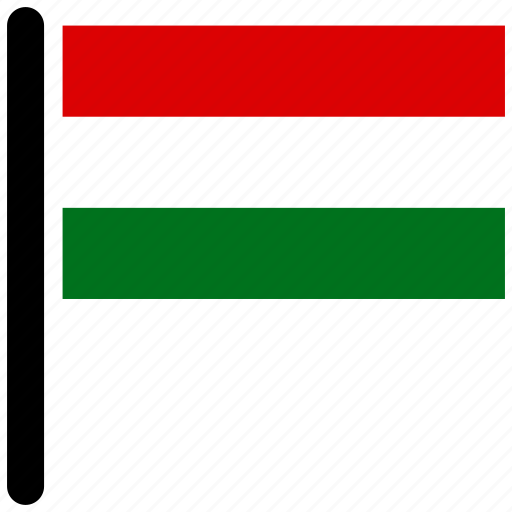country, flag, flags, hungary, national icon
