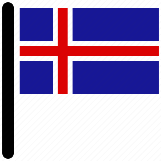country, flag, flags, iceland, national icon