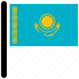 american, country, flag, flags, kazakhstan icon