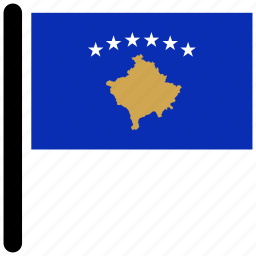 country, flag, flags, kosovo, national icon