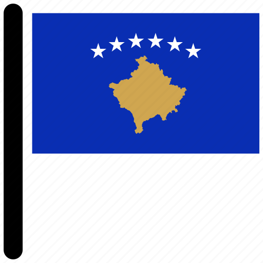 country, flag, flags, kosovo, national icon