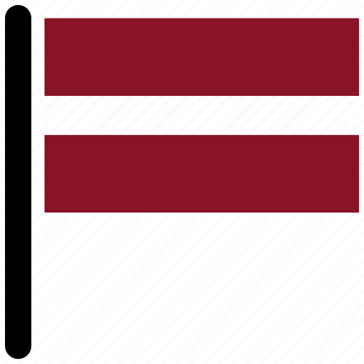country, flag, latvia, rectangular, square icon