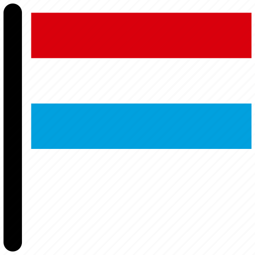 country, flag, luxembourg, national, world icon