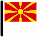 country, flag, flags, macedonia, national icon