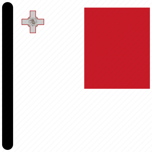 country, flag, flags, malta, national icon