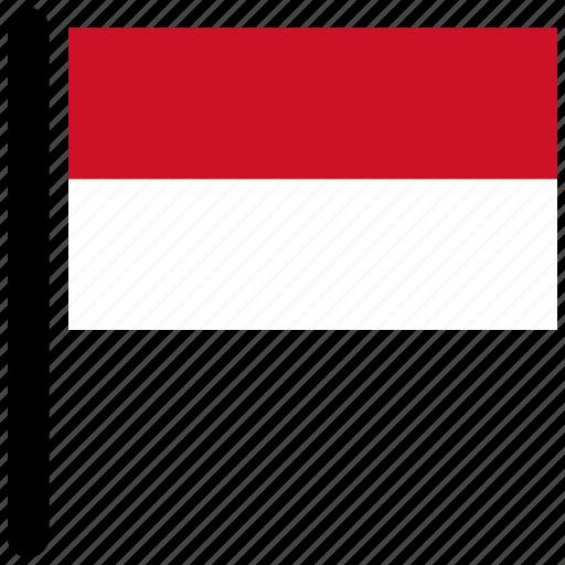 flag, flags, monaco, rectangular, square icon