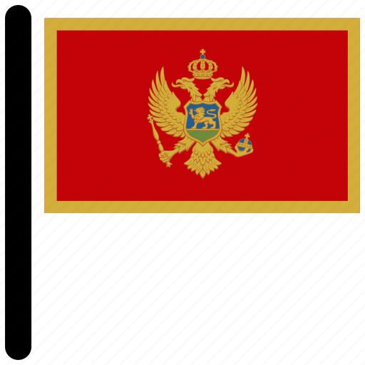 country, flag, flags, montenegro, national icon