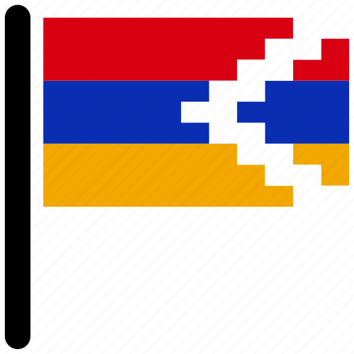 country, flag, flags, nagorno, square icon