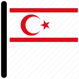 cyprus, flag, flags, northern, northern cyprus, world icon