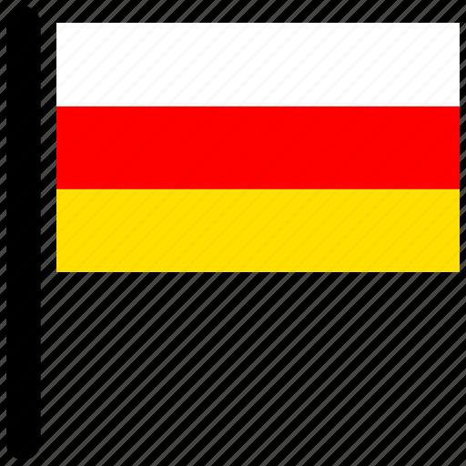 country, flag, flags, ossetia, rectangular icon