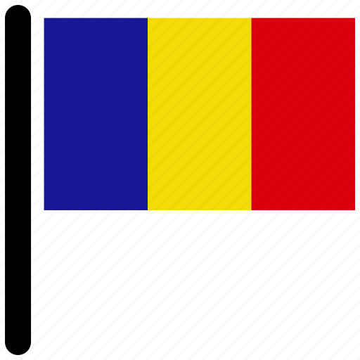 country, flag, flags, romania, square icon