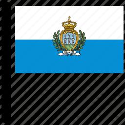 flag, flags, marino, national, san, world icon