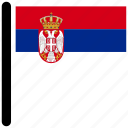country, flag, flags, serbia, square icon