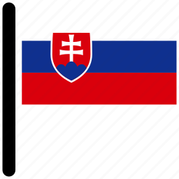 country, flag, flags, national, slovakia icon
