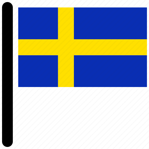 country, flag, flags, national, sweden, world icon