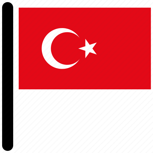 flag, flags, national, rectangular, turkey, world icon