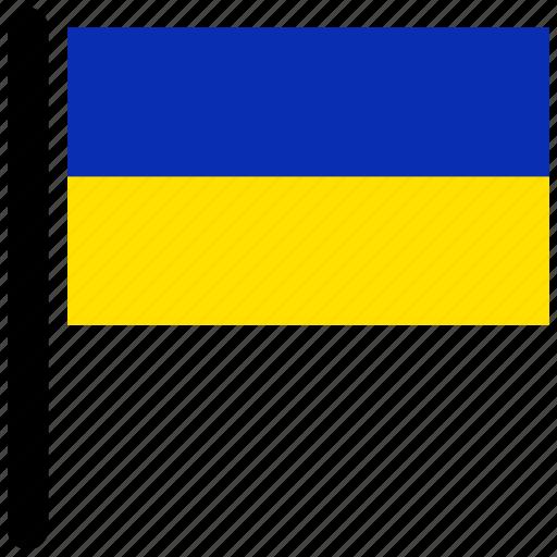 american, flag, flags, national, rectangular, ukraine icon