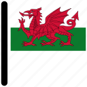 country, flag, flags, national, wales icon