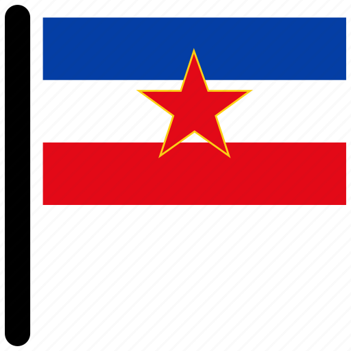 country, flag, flags, rectangular, yugoslavia icon