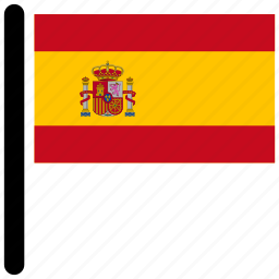 country, flag, flags, national, spain icon