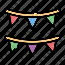 event, garlands, party, celebration, birthday