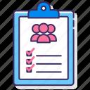 attendant, checklist, clipboard, list