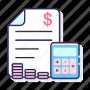 budgeting, calculator, finance, money icon