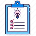 creation, date, lists, schedule icon