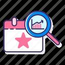 analytics, calendar, event, statistics icon
