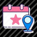 calendar, event, locations, schedule