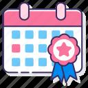 calendar, event, incentive icon