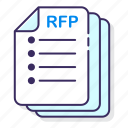 business, documents, rfp icon