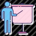business, presentation, seminar icon