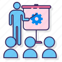 business, marketing, presentation, workshop icon