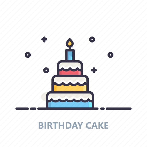 birthday, cake, candles, celebration, event, lights, party icon