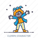 birthday, celebration, character, clown, entertainment, joker, party icon