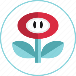 flower, game, power, video icon