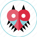 enemy, heart, mark icon