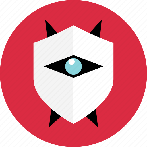 eye, power, shield icon
