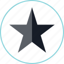 dark, star, video icon