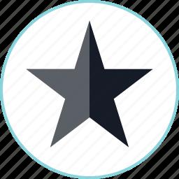 dark, star, video icon