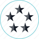 five, special, stars, video icon